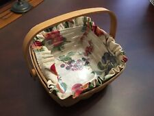 Longaberger Small berry Basket Liner Protector Complete Set display only