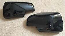 GLOSS BLACK FULL WING MIRROR COVERS FITS L322 VOGUE DISCOVERY 3 FREELANDER 2