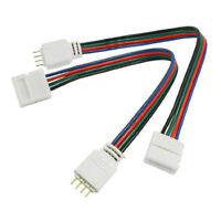 RGB strisce LED Luce 4 Pin Maschi a 10mm Larghezza spina connettore cavo HKIT