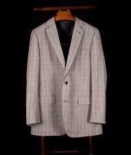 BROOKS BROTHERS 1818 Fitzgerald Gray POW Check Suit Flat Front Pants 40L Italy