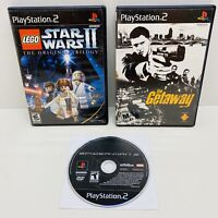 3 Game Wii Lot-The Getaway, Lego Star Wars 2, & Spiderman 3 PS2 Tested Sanitized