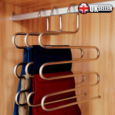 Scarf Tie Hanger Pants Trousers Clothes Storage Space Save Multifunctional Rack