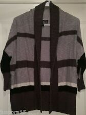 Relativity NWT Womens Black/Gray Striped Sweater Top Size S