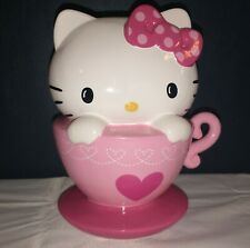 Vintage Sanrio Hello Kitty Piggy Bank Cat Fortune Ceramic Coin Bank repaired