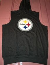 Pittsburgh Steelers Sleeveless Pullover Hoodie 1Xl Vibrant Logo Majestic NFL