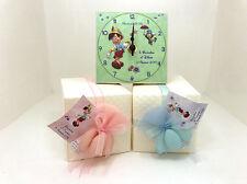 Bomboniera battesimo orologio personalizzato pinocchio con bigliettino confetti