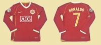 Manchester united 2006 2007 jersey shirt ronaldo long sleeve ucl styl cristiano