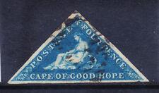 SOUTH AFRICA CAPE OF GOOD HOPE SG6 4d blue - fine used - 3 margins. Cat £90