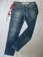TAKE TWO Damen Blue Jeans Denim W27/L30 xtra low waist slim fit straight leg