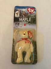 *NEW in BOX* RARE 1994 Retired Maple Bear Ty Beanie Baby