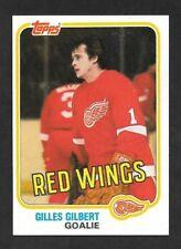 1981-82  TOPPS HOCKEY , # 88 West , GILLES GILBERT , DETROIT RED WINGS