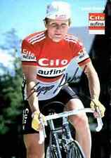 JOSEF WEHRLI Team CILO AUFINA Signed Autograph cycling Signé tour suisse swiss
