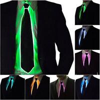 Light Up LED Flashing Glow Luminous EL Tie Necktie Men DJ Cosplay Party Props