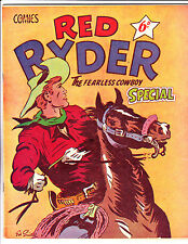 "Red Ryder Special No 6? 1950's  Australian-""Pulling Back On Reigns Cover!  """