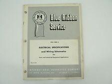 Electrical Specs Wiring Schematics Farm Industrial Equipment Service Manual 1964