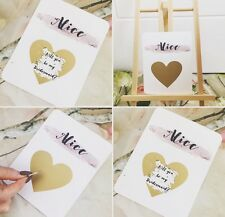Scratch Of Gold Heart Will You Be My Bridesmaid invitation proposal Card