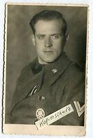 Portrait-Foto : Deutscher Panzer-Sturmgeschütz Soldat im 2.WK