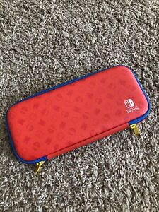 Mario Red & Blue Edition Nintendo Switch Slim Game Travel Carrying Case!