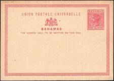 BAHAMAS, 1881. Post Card H&G 1, Mint