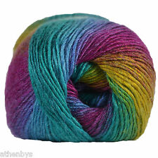 King Cole Riot DK Self Striping Striped Rainbow Knitting Wool Yarn 100g Fab 414