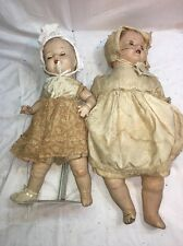 Antique Creepy Twin Dolls Anna Johns & Her Twin Sister Horror