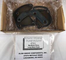 Alan Grove 416L BB Chevy Type II Low Pro Pump Power Steering Bracket Mount LWP