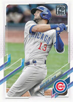 David Bote 2021 Topps Series 1 #4 Chicago Cubs Card