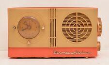 Stromberg Carlson Table Alarm Clock Radio C-3 Tube Amp Bakelite 50s Mid Century