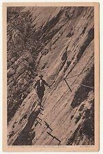 Ak Zugspitze Besteigung Durchs Höllental Alpinista Scalatore Del 1940