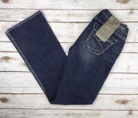 Womens Silver Jeans Surplus Back Flap Pocket Bootcut Stretch Jean 27 28 30 31