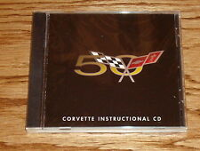 Original 2003 Chevrolet Corvette 50th Anniversary Instructional CD 03 Chevy
