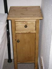 H60 W30 D30cm BESPOKE CUPBOARD DRAWER BEDSIDE HALL BATHROOM WARM OAK WAXED PINE