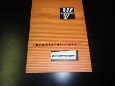 Ersatzteilliste Welger Ackerwagen - Stand Januar 1975!