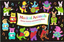 Sandylion Vtg Animals Sticker Book with 4 Maxi Activity Sheet Stickers RETIRED