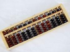Chinois en Bois Abacus Jouets Calculatrice W bouton reset ENFANTS ADULTES (12 rangées)