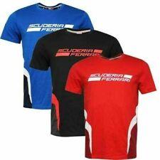 Puma Ferrari SF T-Shirt Mens Cotton Tee Tops Black Blue Red 761561 01 02 04 RW71