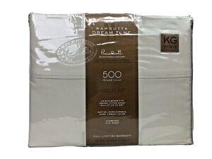 Wamsutta Dreamzone Supima Cotton 500 TC Percale Cool & Crisp King Stone/Brown