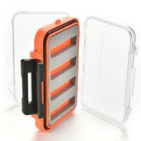 Double Side Waterproof Pocket Fly Fishing Box Slid Foam Insert Hold 170 Flies CR