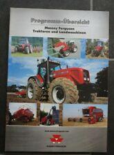 MAssey Ferguson Traktoren MF Landmaschinen Programmübersicht Katalog Prospekt