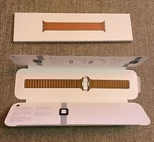 Apple Leather Link Band for Watch Series 6 and SE - Saddle Brown, L (44mm)