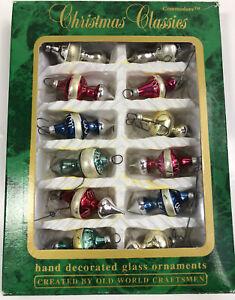 Commodore Hand Decorated Miniature ornaments Set of 12 Miniature Ornaments