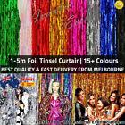 Metallic Tinsel Curtain Foil 1m 2m 3m 4m 5m Backdrop Event Party Decoration AUS