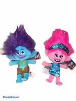 Trolls World Tour Poppy & Branch Plush Doll Stuffed Animal Set NEW