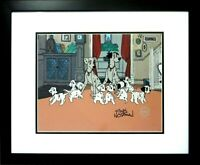 Disney Sericel Cel Family 1991 101 Dalmatian Hand Signed Floyd Norman New Frame