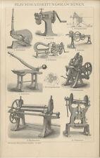 Blechbearbeitungsmaschinen Walzwerk Ziehbank Hebelschere Presse Brockhaus 0031