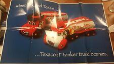 TEXACO GAS STATION OIL GASOLINE TANKER BEANIES BEAN BAG PLUSH ADVERTISING POSTER