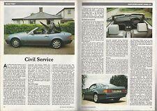 1992 Mercedes Benz 300SL Road Test article, Mercedes 300 SL-24 British auto maga