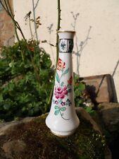 Ancien vase en porcelaine Desvres ? marque asiatique dessous décor fleurs