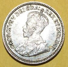 1919 5 CENT CANADIAN SILVER  COIN VERY NICELY DETAILED HIGH GRADE