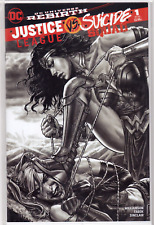 JUSTICE LEAGUE VS SUICIDE SQUAD #1 Lee Bermejo B&W Wonder Woman VARIANT Cover NM
